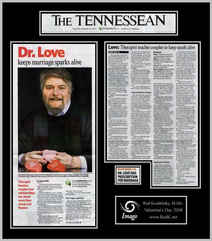 Tennessean Article About Rod for Valentine's Day 2008
